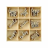 Kaisercraft - Flourishes - Die Cut Wood Pieces Pack - Little Words