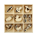 Kaisercraft - Flourishes - Die Cut Wood Pieces Pack - Baby