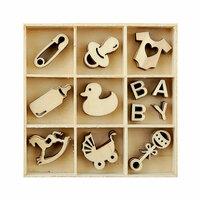 Kaisercraft - Flourishes - Die Cut Wood Pieces Pack - Baby