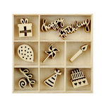 Kaisercraft - Flourishes - Die Cut Wood Pieces Pack - Party
