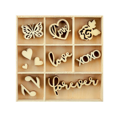 Kaisercraft - Flourishes - Die Cut Wood Pieces Pack - Love