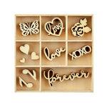 Kaisercraft - Flourishes - Die Cut Wood Pieces Pack - Love