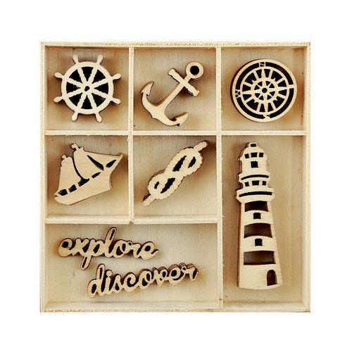 Kaisercraft - Flourishes - Die Cut Wood Pieces Pack - Nautical
