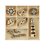 Kaisercraft - Flourishes - Die Cut Wood Pieces Pack - Nautical