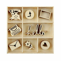 Kaisercraft - Flourishes - Die Cut Wood Pieces Pack - Hello