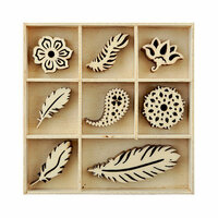 Kaisercraft - Flourishes - Die Cut Wood Pieces Pack - Feather