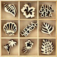 Kaisercraft - Flourishes - Die Cut Wood Pieces Pack - Life's a Beach