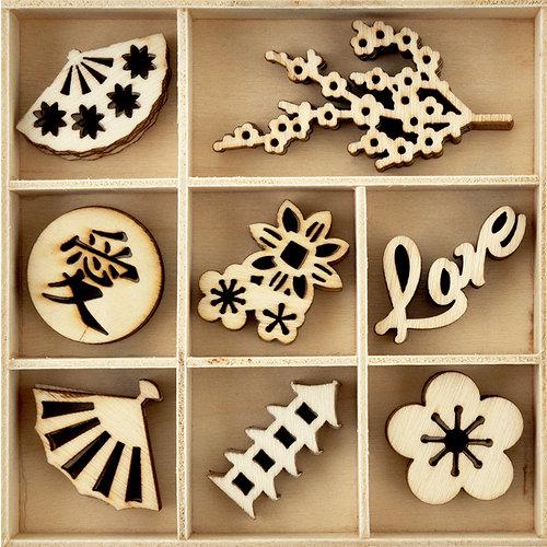 Kaisercraft - Flourishes - Die Cut Wood Pieces Pack - Oriental