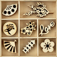 Kaisercraft - Flourishes - Die Cut Wood Pieces Pack - Oriental