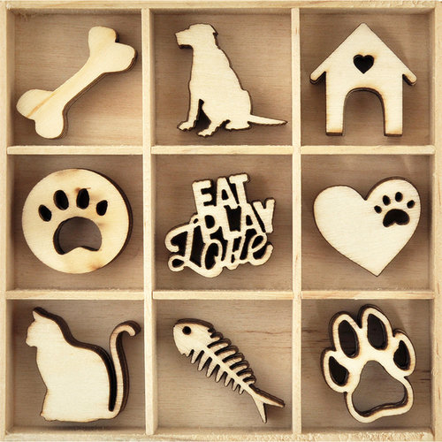 Kaisercraft - Flourishes - Die Cut Wood Pieces Pack - Pets