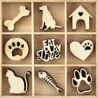 Kaisercraft - Flourishes - Die Cut Wood Pieces Pack - Pets