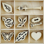 Kaisercraft - Flourishes - Die Cut Wood Pieces Pack - Garden