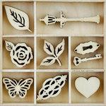 Kaisercraft - Flourishes - Die Cut Wood Pieces Pack - Garden