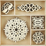 Kaisercraft - Flourishes - Die Cut Wood Pieces Pack - Bollywood