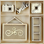 Kaisercraft - Flourishes - Die Cut Wood Pieces Pack - Snapshot