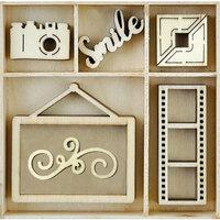 Kaisercraft - Flourishes - Die Cut Wood Pieces Pack - Snapshot