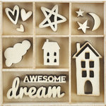 Kaisercraft - Flourishes - Die Cut Wood Pieces Pack - Dream