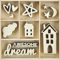 Kaisercraft - Flourishes - Die Cut Wood Pieces Pack - Dream