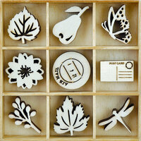 Kaisercraft - Flourishes - Die Cut Wood Pieces Pack - Harvest