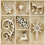 Kaisercraft - Christmas Jewel Collection - Flourishes - Die Cut Wood Pieces