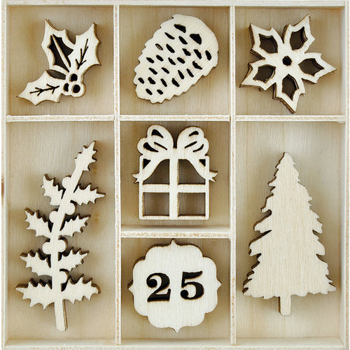 Kaisercraft - Christmas Edition Collection - Flourishes - Die Cut Wood Pieces