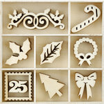 Kaisercraft - Christmas - Flourishes - Die Cut Wood Pieces - Dear Santa