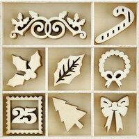 Kaisercraft - Christmas - Flourishes - Die Cut Wood Pieces - Dear Santa