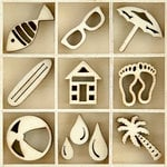 Kaisercraft - Flourishes - Die Cut Wood Pieces Pack - Summertime