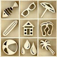 Kaisercraft - Flourishes - Die Cut Wood Pieces Pack - Summertime