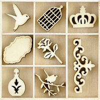 Kaisercraft - Flourishes - Die Cut Wood Pieces Pack - Pretty