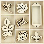 Kaisercraft - Flourishes - Die Cut Wood Pieces Pack - Provincial