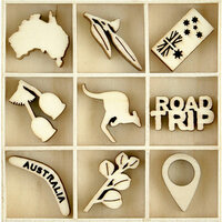 Kaisercraft - Flourishes - Die Cut Wood Pieces Pack - Australiana