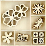 Kaisercraft - Flourishes - Die Cut Wood Pieces Pack - Tropics