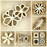 Kaisercraft - Flourishes - Die Cut Wood Pieces Pack - Tropics