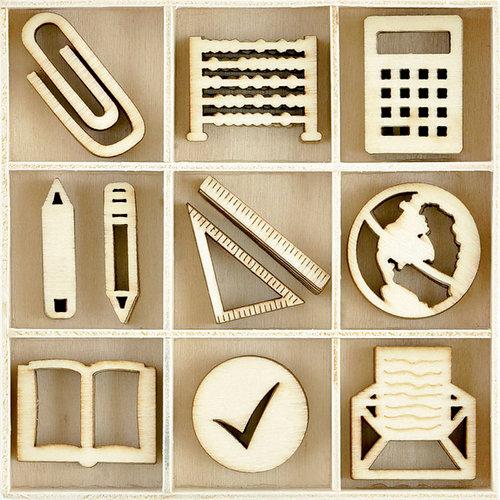 Kaisercraft - Flourishes - Die Cut Wood Pieces Pack - Classroom