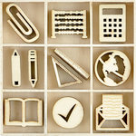 Kaisercraft - Flourishes - Die Cut Wood Pieces Pack - Classroom