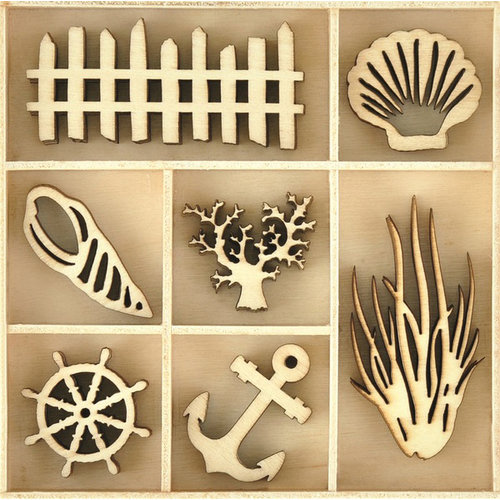 Kaisercraft - Beach Shack Collection - Die Cut Wood Pieces Pack - Beach