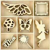 Kaisercraft - Fairy Garden Collection - Flourishes - Die Cut Wood Pieces Pack - Make a Wish