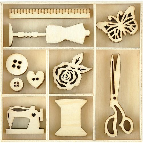 Kaisercraft - Miss Betty Collection - Die Cut Wood Pieces Pack - Treasures