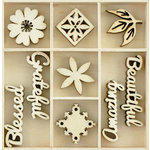 Kaisercraft - Flourishes - Die Cut Wood Pieces Pack - Beautiful