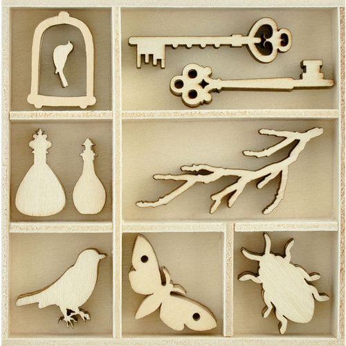 Kaisercraft - Flourishes - Die Cut Wood Pieces Pack - Curiosities