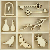 Kaisercraft - Flourishes - Die Cut Wood Pieces Pack - Curiosities