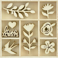 Kaisercraft - Flourishes - Die Cut Wood Pieces Pack - Blooming