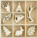Kaisercraft - Flourishes - Die Cut Wood Pieces Pack - Woodlands
