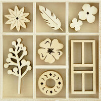 Kaisercraft - Flourishes - Die Cut Wood Pieces Pack - Collected
