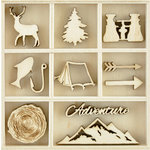 Kaisercraft - Flourishes - Die Cut Wood Pieces Pack - Adventurer