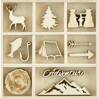 Kaisercraft - Flourishes - Die Cut Wood Pieces Pack - Adventurer