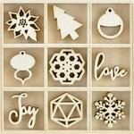 Kaisercraft - Flourishes - Die Cut Wood Pieces Pack - Shine
