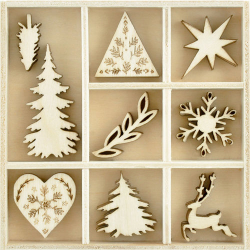 Kaisercraft - Flourishes - Die Cut Wood Pieces Pack - Nordic