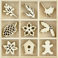 Kaisercraft - Flourishes - Die Cut Wood Pieces Pack - Festive Foliage